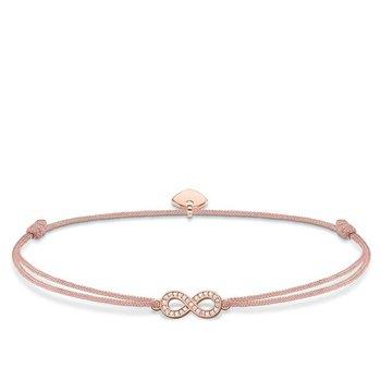 "Rose plated textile bracelet ""Little Secret Infinity"""