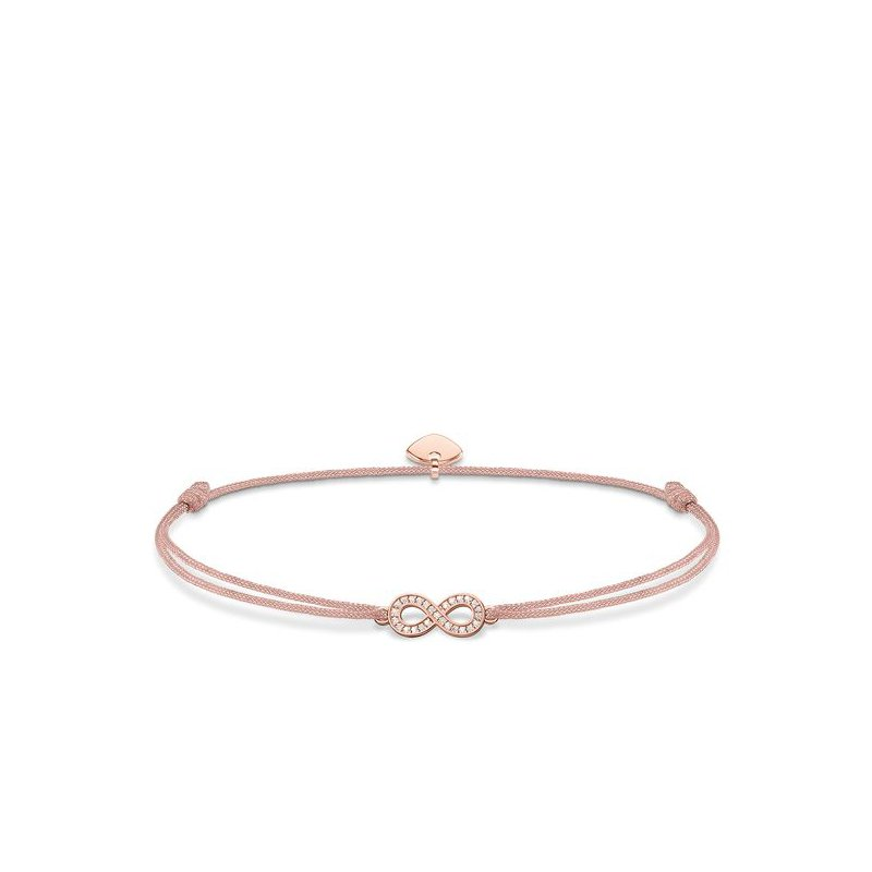"Thomas Sabo Rose plated textile bracelet ""Little Secret Infinity"""