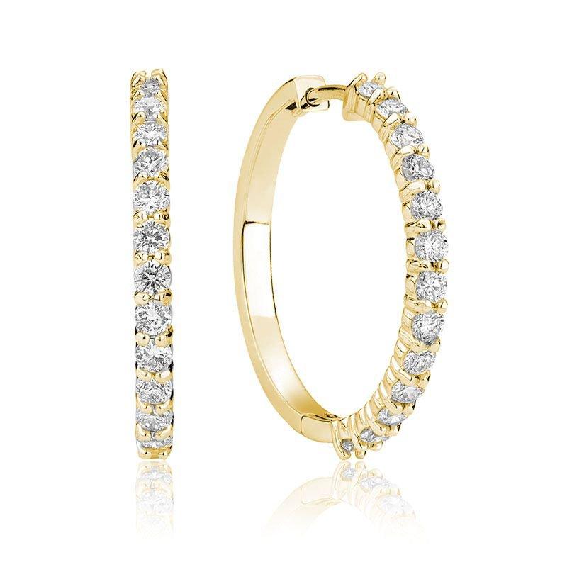 RNB Bijoux Jewellery Diamond Hoop Earrings