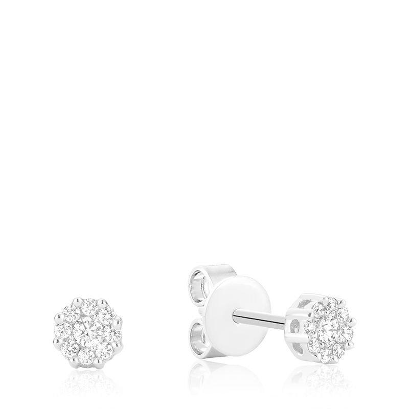 RNB Bijoux Jewellery Diamond Cluster Earrings