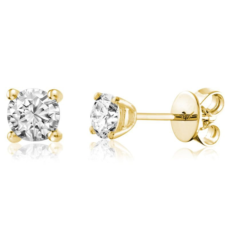 RNB Bijoux Jewellery Solitaire Diamond Stud Earrings