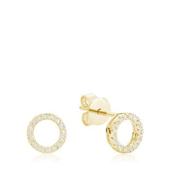 Circle of Life Diamond Stud Earrings