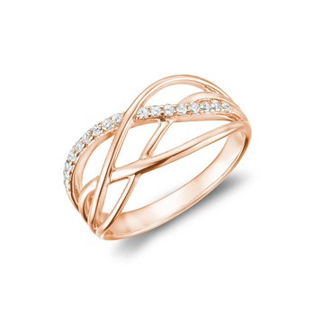 Split Waves Diamond Ring
