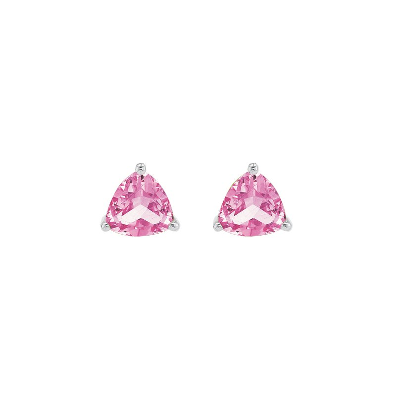 The  Collection Created Pink Sapphire Studs