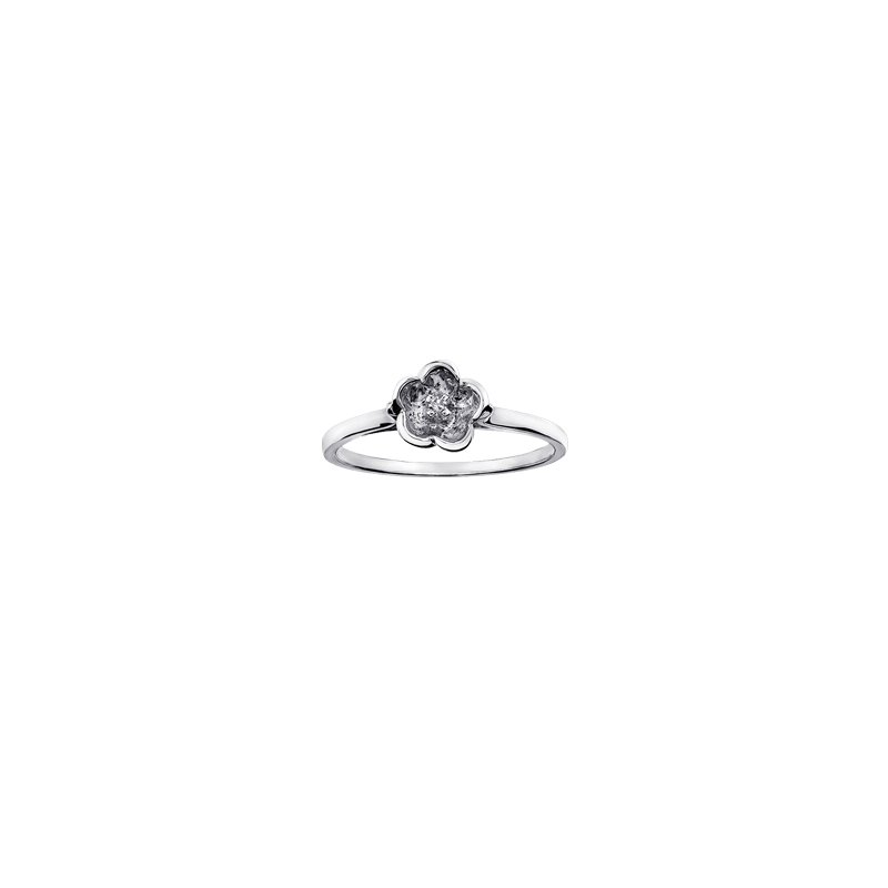 The Collection Diamond Flower Ring