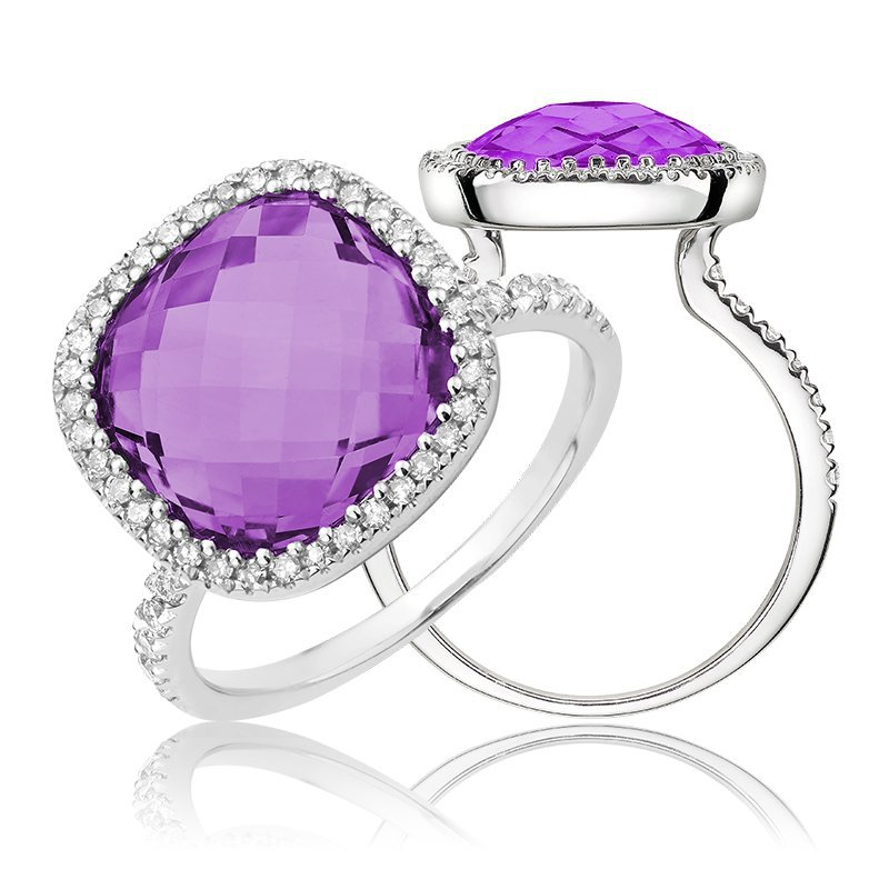 RNB Bijoux Jewellery Amethyst and Diamond Ring