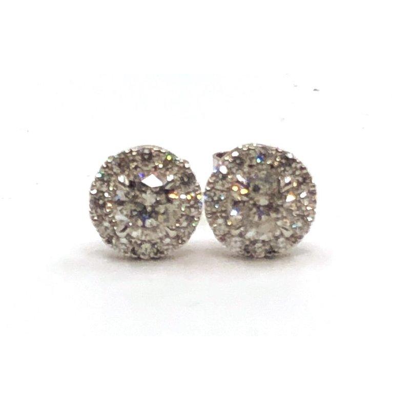 The Collection Diamond Halo Stud Earrings