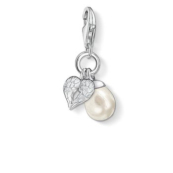 Charm Winged Heart Freshwater Pearl