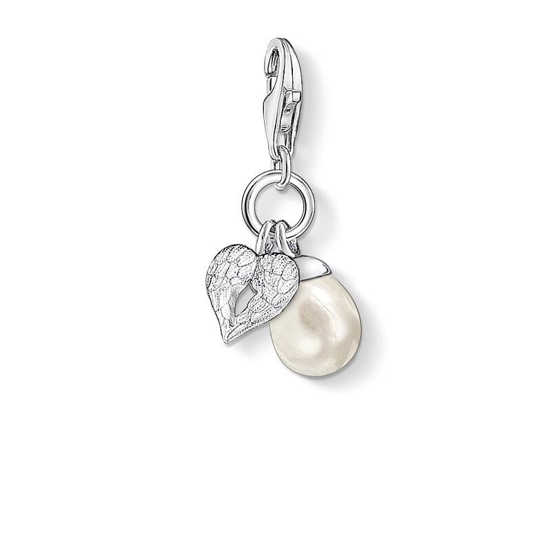 Thomas Sabo Charm Winged Heart Freshwater Pearl