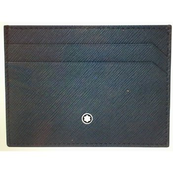 Montblanc Leather Sartorial Business Card Holder Indigo