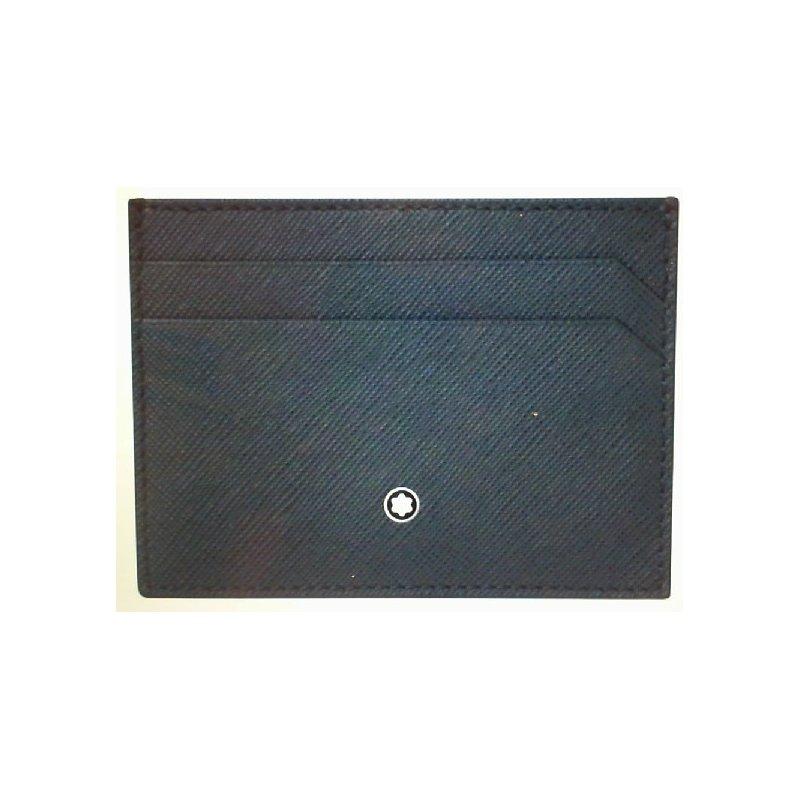 Montblac Montblanc Leather Sartorial Business Card Holder Indigo