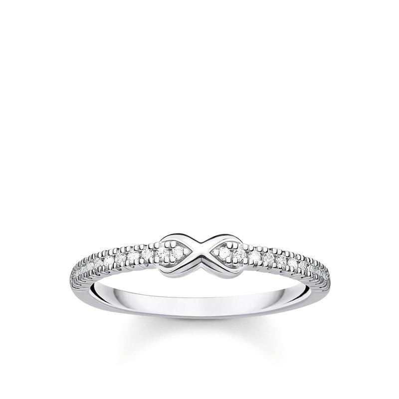 Thomas Sabo Ring Infinity With White Stones Silver