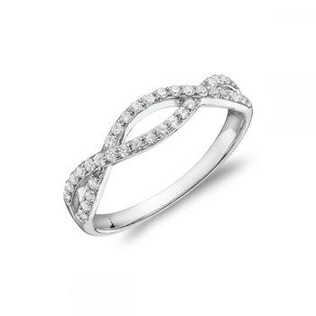 Pave Twist Diamond Ring