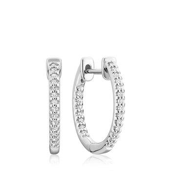 Oval Inside-Out Diamond Earrings