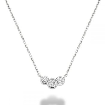 Triple Diamond Necklace