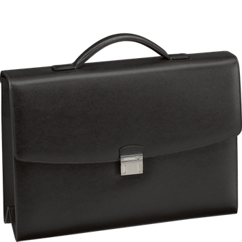 Sartorial Single Gusset Briefcase Black