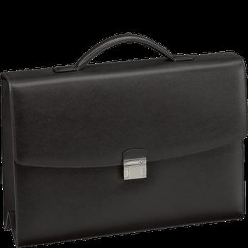 Sartorial Single Gusset Briefcase Black