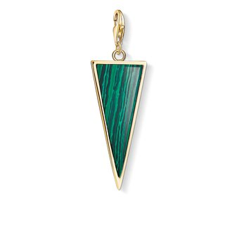 Sterling Silver Green Triangle Charm