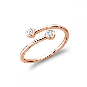 Double Bezel Crossover Diamond Ring