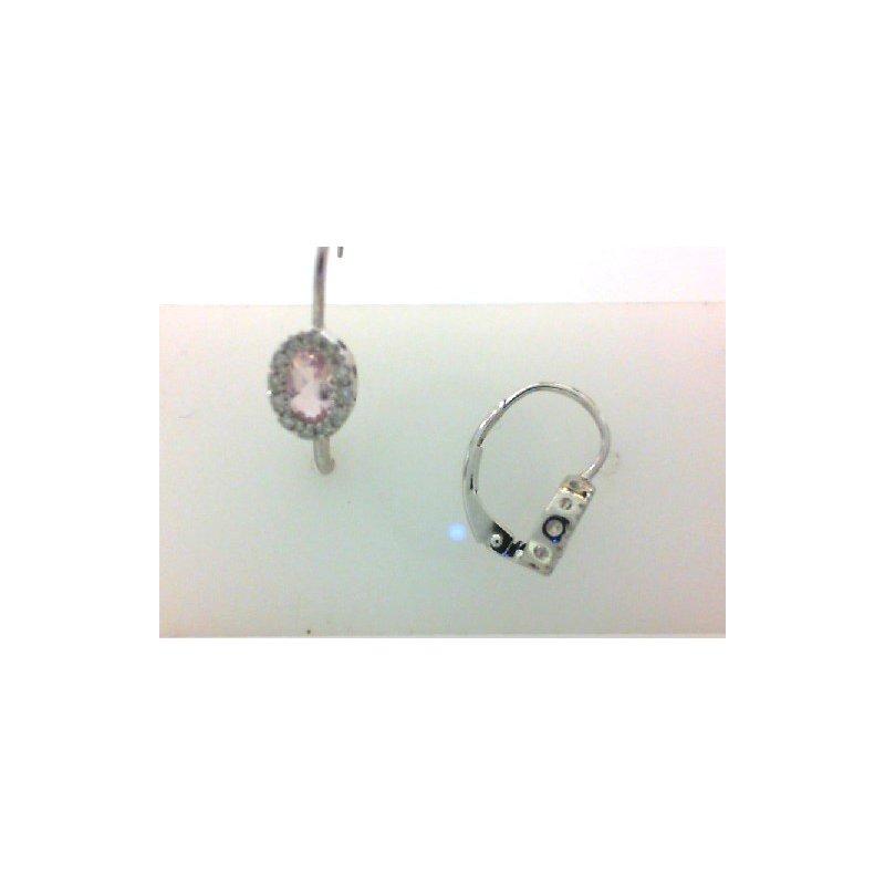 RNB Bijoux Jewellery Pink Quartz and Diamond Earrings