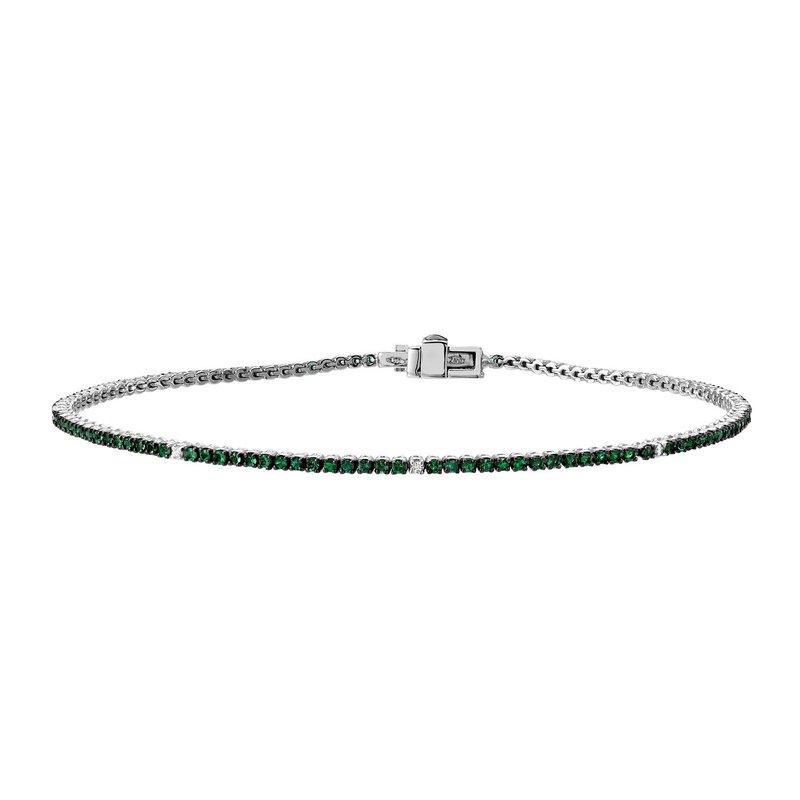 Autograph Jewelry Emerald Tennis Bracelet