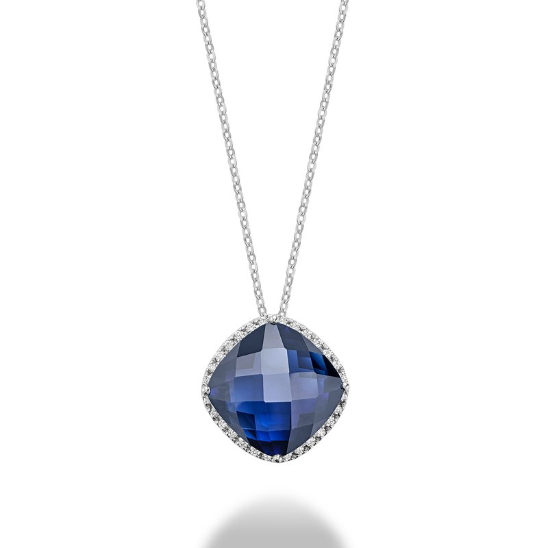 RNB Bijoux Jewellery Created Sapphire And Diamond Pendant