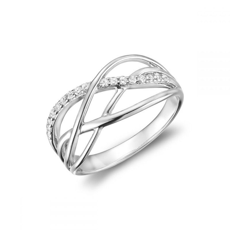 RNB Bijoux Jewellery Split Waves Diamond Ring