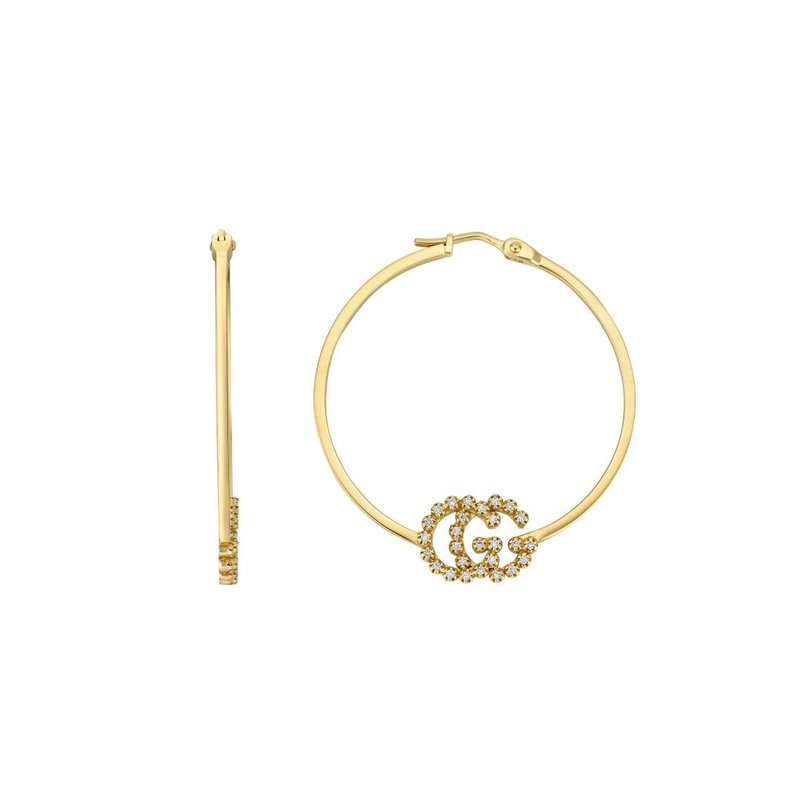 Gucci Jewellery GG Running earrings with diamonds, small