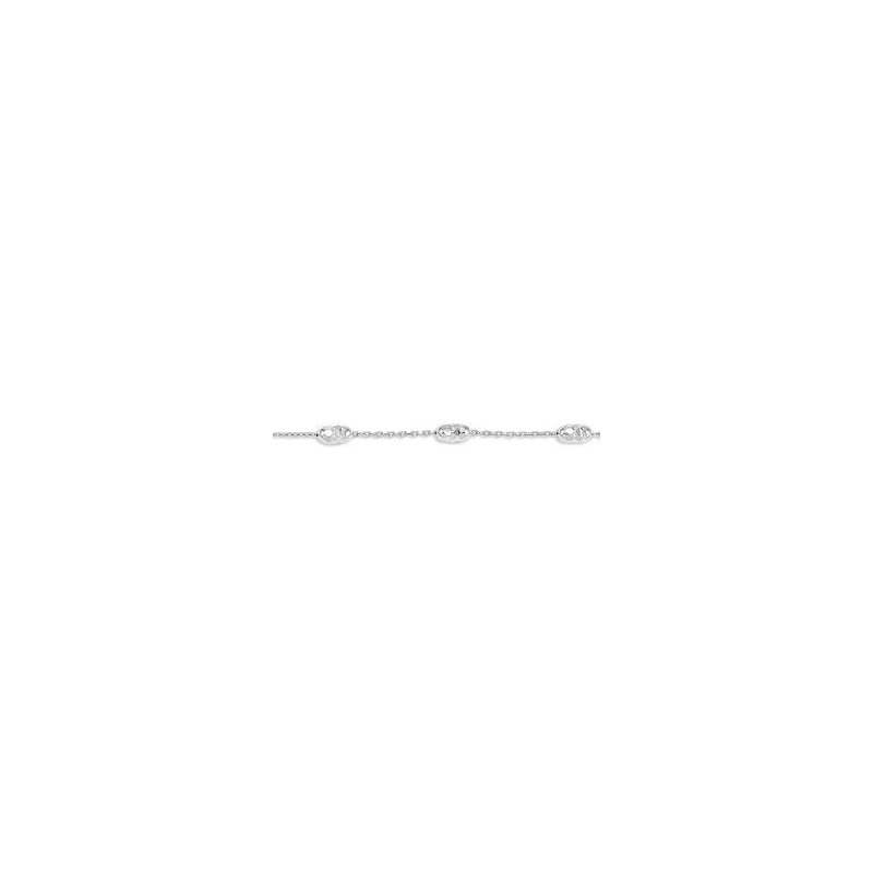 The  Collection Luna Style Diamond Cut Bead Bracelet