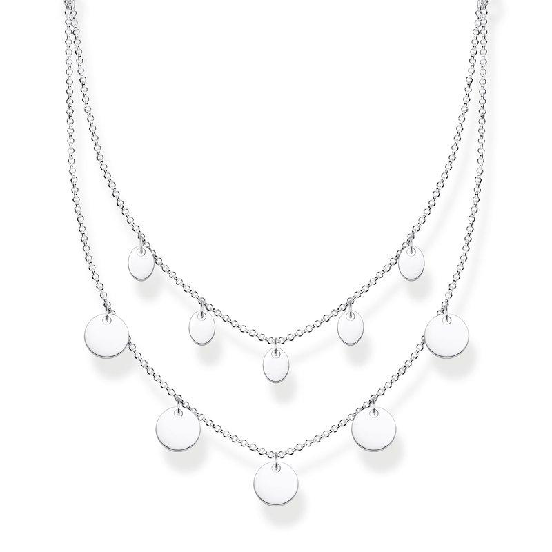 Thomas Sabo Necklace With Discs Silver