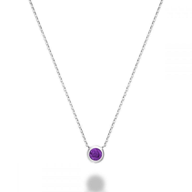 RNB Bijoux Jewellery Bezel Set Amethyst Necklace