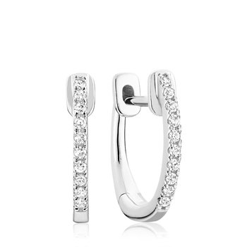 Diamond Huggie Hoop Earrings