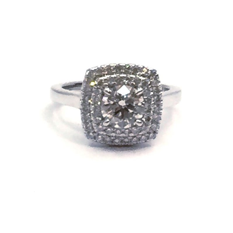 The Collection Double Halo Engagement Ring