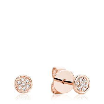 Round Cluster Diamond Stud Earrings