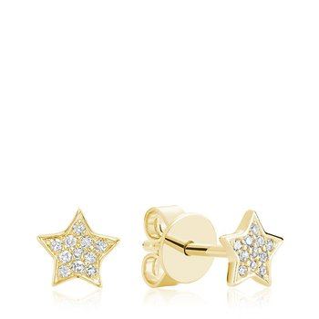 Star Diamond Stud Earrings