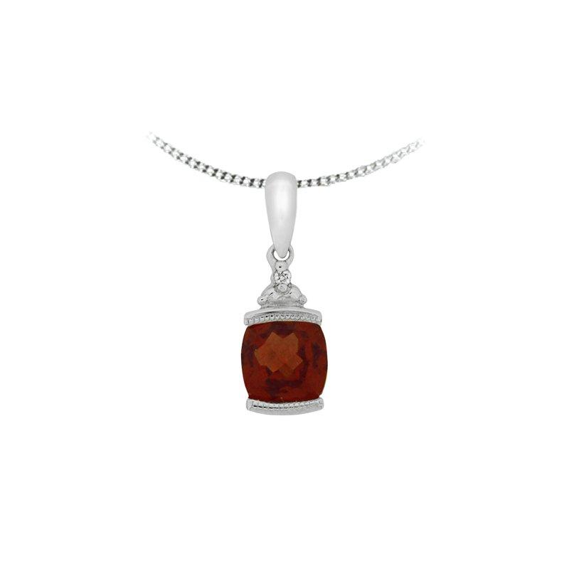 The Collection Garnet And Diamond Pendant
