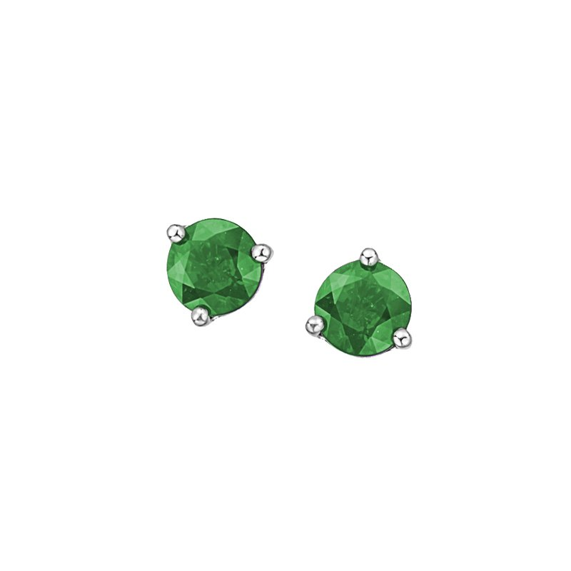The Collection Emerald Stud Earrings
