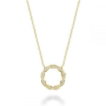 Round Marquise Diamond Pendant