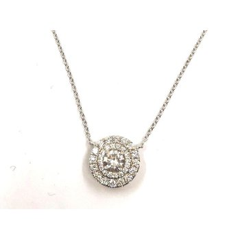 Double Halo Diamond Pendant