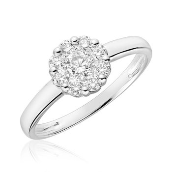 Cluster Mount Diamond Ring