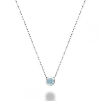 Bezel Set Aquamarine Necklace