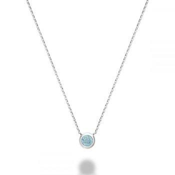 Bezel Set Aquamarine Necklace
