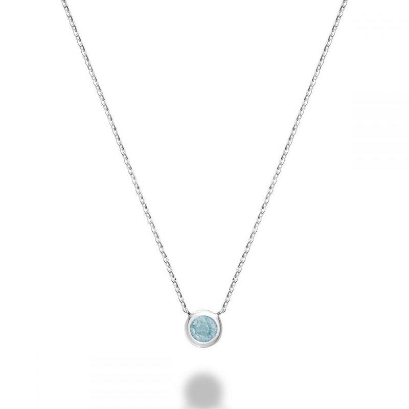 RNB Bijoux Jewellery Bezel Set Aquamarine Necklace