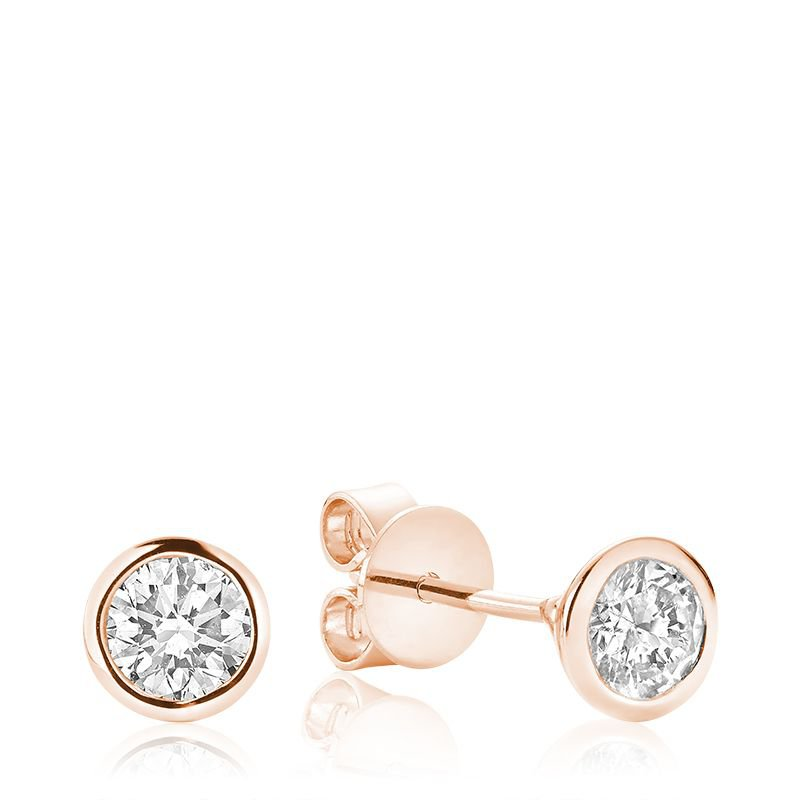 RNB Bijoux Jewellery Diamond & Bezel Stud Earrings