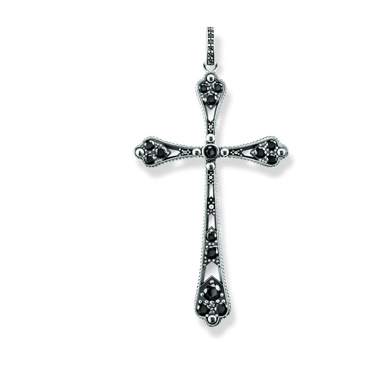 Thomas Sabo Black CZ Cross