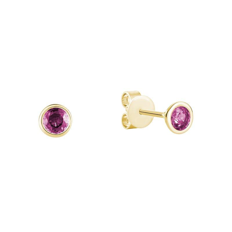 RNB Bijoux Jewellery Pink Topaz Studs