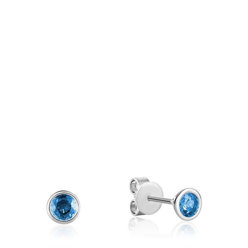 RNB Bijoux Jewellery Bezel Set Blue Topaz Stud Earrings