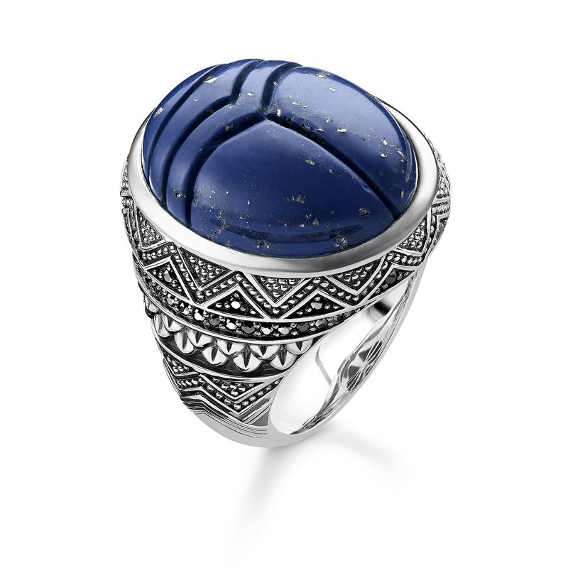 Thomas Sabo Blue Scarab Ring