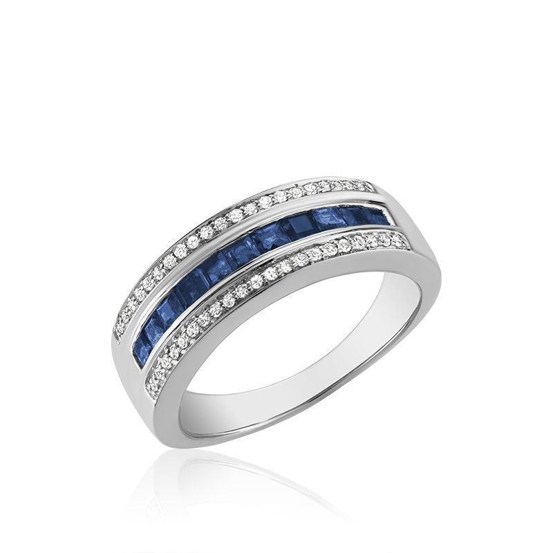 RNB Bijoux Jewellery Blue Sapphire & Diamond Ring