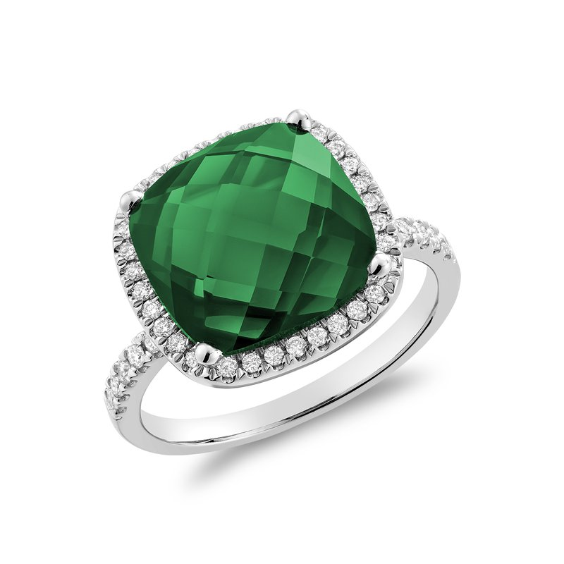 RNB Bijoux Jewellery Created Emerald and Diamond Ring